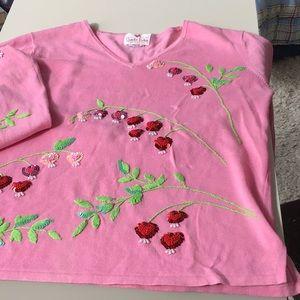 Pink Quacker Factory v neck, L